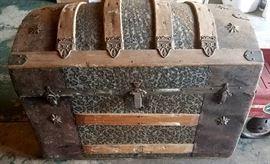 Antique camel top trunk