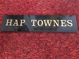 Hap Townes memorabilia