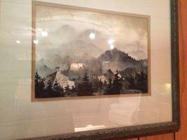 Chester Martin watercolor Smokey Mountain 7x10