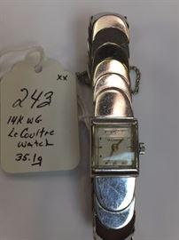 14k WG LeCoulre Watch