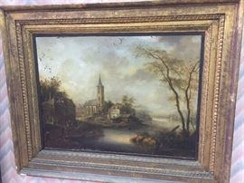 Late 18th-Early 19th c. Oil on Tin