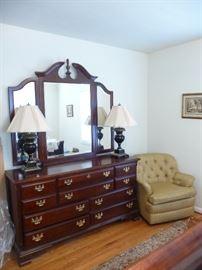 Sumter Cabinet Queen  dresser / Mirror