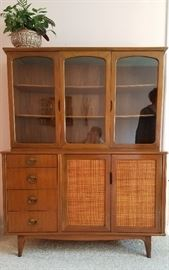 Danish style for drawer & five door china cabinet.   Lovingly cared for.  Great condition