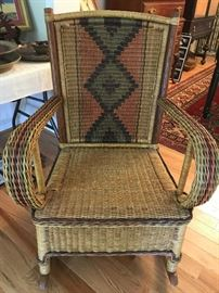 Beautiful Wicker Rocker