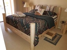 King bed with drawers