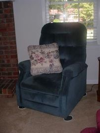 one of a pair of recliners