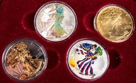Lot 107a - Coin 4 American Silver Eagles 4 Ounces .999