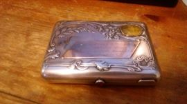 RUSSIAN SILVER & GOLD CIGARETTE CASE