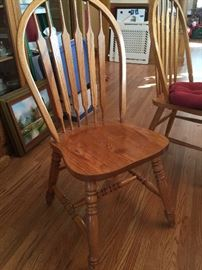 Six Windsor chairs go with the table.
