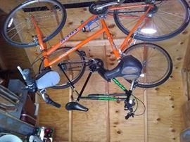 Two mountain bikes