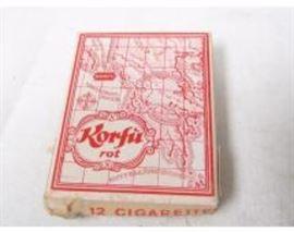 Cigarette Cards box