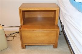 One of two matching nightstands