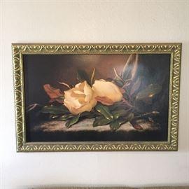 Magnolia Painting Print