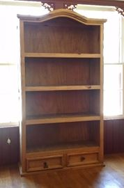 Tall display cabinet with 2 drawers