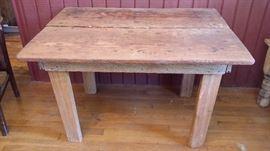Handmade pine table