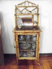 Early bamboo storage cabinet ....perfect size for any room