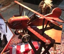 Vintage airplane wooden