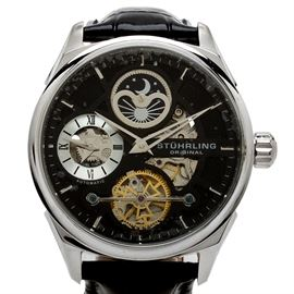Stührling Original Tesla Chronograph Automatic Wristwatch: A Stührling Original Tesla chronograph automatic wristwatch featuring a skeleton dial.