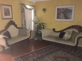 Mahogany Victorian Sofas
