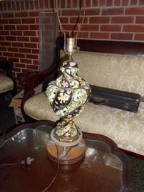 porcelain filigree lamp