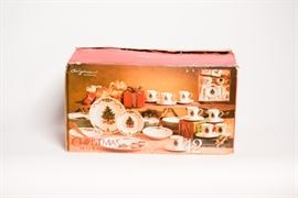 Forty Two Piece Christmas Morning Dish Set