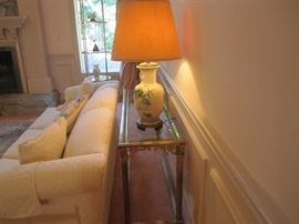 SOFA TABLE AND LAMP