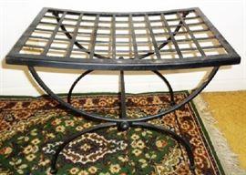 Vintage Iron Lattice Table