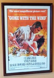 """Gone With the Wind"" Movie Poster, Framed"