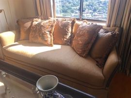 Sofa with Decorative Accent Pillows