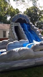Wild Rapids 18' Dual Lane Slide with Pool