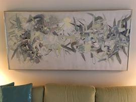 Vintage Abstract Painting (artist-Hamilton)