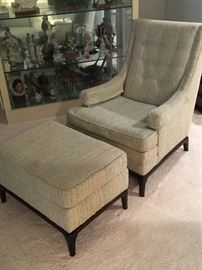 Comfortable Chair with matching Ottoman