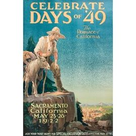 """""""Celebrate Days of 49"""" Travel Lithograph"""