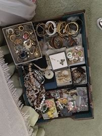 Hundreds of pieces of costume jewelry