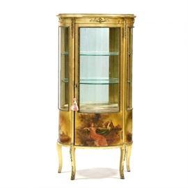 Gorgeous gilded French vitrine
