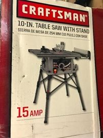 Craftsman table saw  new in box  $125.00  Interested? call Barb 708-698-1155  we take cash at pickup and Paypal    photo 1 of 3