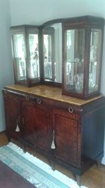 """Late 19th Century French Breakfront with Display and Original Hardware. Asking Price $1795 (Measures 77"""" Tall/63"""" Wide/22"""" Deep)"""