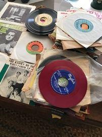 Vintage vinyl 45s -Beatles, Stones, Creedence etc
