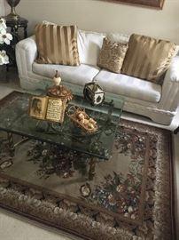 Fabric white sofa