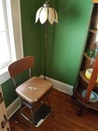 antique floor slag lamp