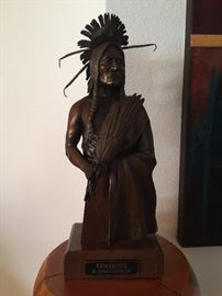 "Bronze ""Cheyenne"" by R. Scott Nickell 4 1/2"" x 8"""