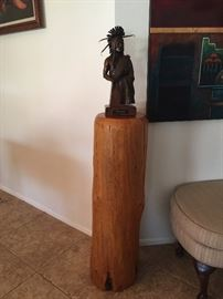 "Bronze ""Cheyenne"" by R. Scott Nickell 4 1/2"" x 8"" Log stand sold separately"