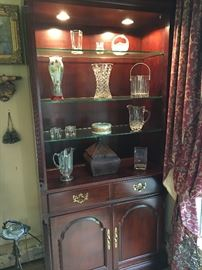 Crystal in a Cherry cabinet