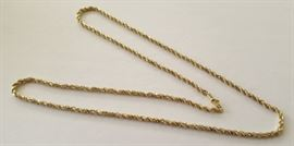 "WDG002 Beautiful 24"" 14K Gold Chain"