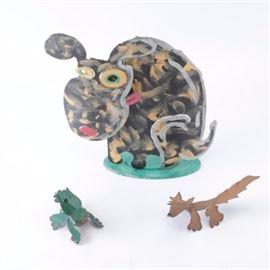 Katz Metal Dog Sculptures