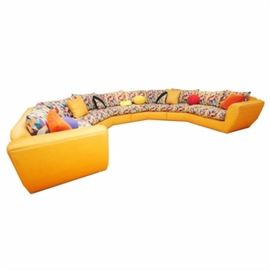 Large 80's Modern Style Sectional Sofa