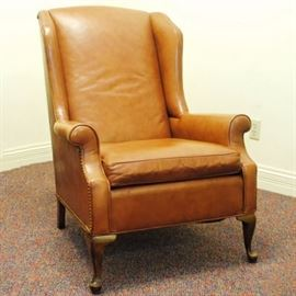 Vintage Leather Wingback Chair from Joseph Lang Furniture