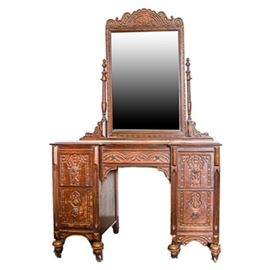 Antique Victorian Style Vanity with Mirror