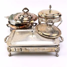 Collection of Silver Plated Servingware