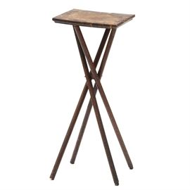 "Late Victorian Stick-and-Ball Stand: A late Victorian oak stand, having a square top, over four splayed ""stick"" legs, positioned around a turned ball fitting. Circa 1890s."